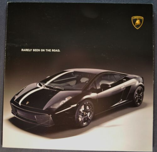 2007 Lamborghini Gallardo Nera Sales Brochure Folder Excellent Original 07