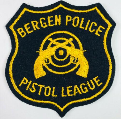 Bergen Police Pistol League New Jersey NJ Felt Patch A2