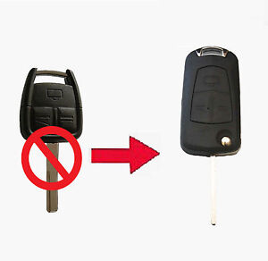 Vauxhall Opel Astra Vectra Zafira 3 Button CONVERSION Flip Remote Key Fob Case