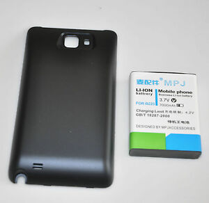 7000mAh Extended Battery +Back Case Cover For Samsung Galaxy Note GT-N7000 i9220