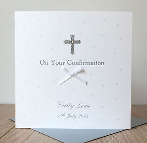 Handmade Personalised Confirmation Card
