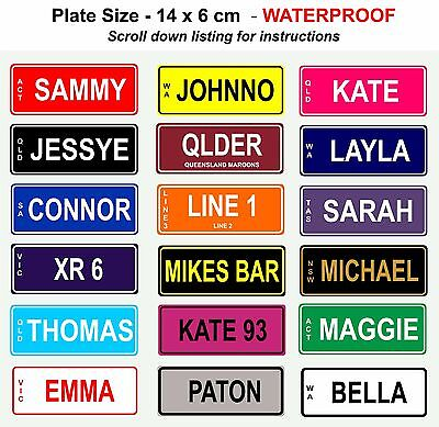 For sale NOVELTY PERSONALISED KIDS BIKE MINI NUMBER PLATE LICENCE SIGN BIRTHDAY XMAS GIFT
