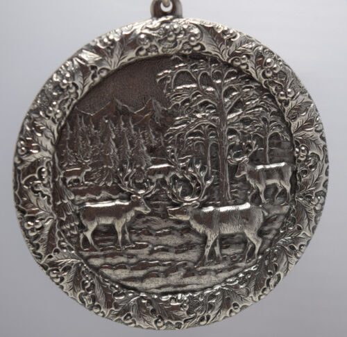 Buccellati Italy 2005 All Sterling Annual Ornament - Reindeer Gathering
