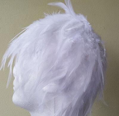 White Wig Halloween Costume (White Feather Costume Wig Halloween Coque Feather Wig Fast shipped from GA,)
