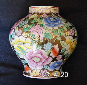 Vase chinois cents fleurs style 18eme siecle for Decoration 18eme siecle
