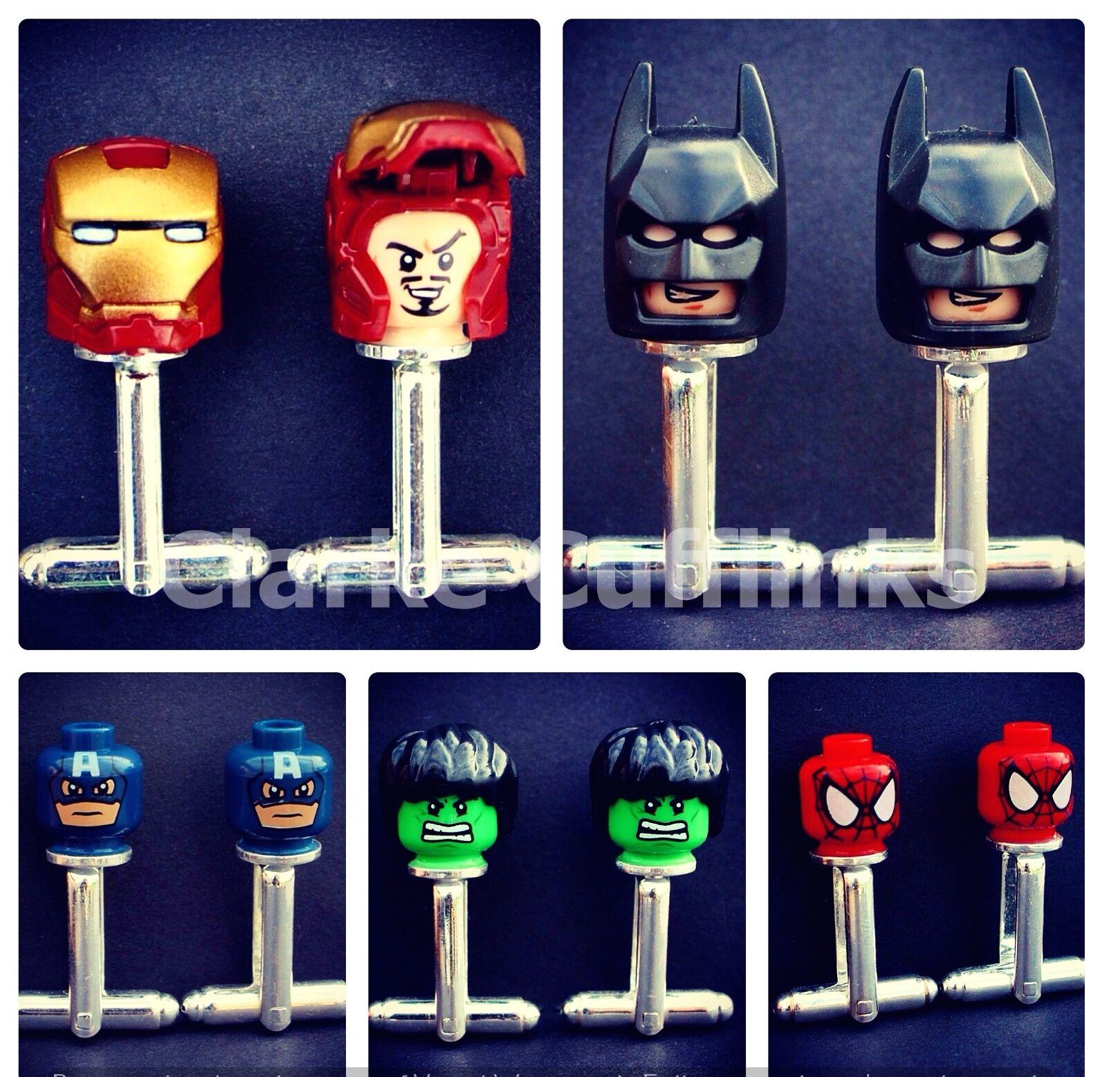 Lego Marvel Superheld Manschettenknöpfe Ironman Batman Spiderman Hochzeit Herren