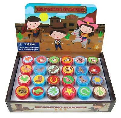 TINYMILLS 24 Pcs Western Cowboy Cowgirl Stampers for Kids - Cowgirl For Kids