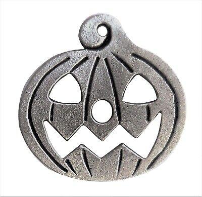 Geschnitzt Scary Halloween Kürbis Gesicht Zinn Anstecker ()