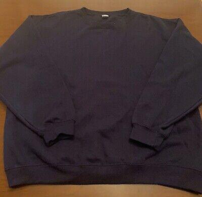 Bob Barker Co Mens Crew Neck Sweatshirt Size XL Color Navy Blue Navy Blue Crew Sweatshirt