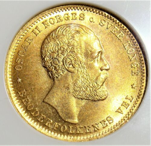 Norway: 1902 Gold 20 Kroner KM-355 NGC MS-66.