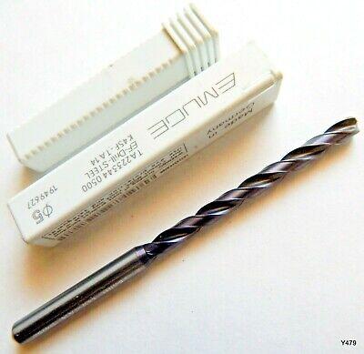 Accupro Metric 5mm 118 deg Cobalt Drill TiAlN Finish White Band Cast Iron USA