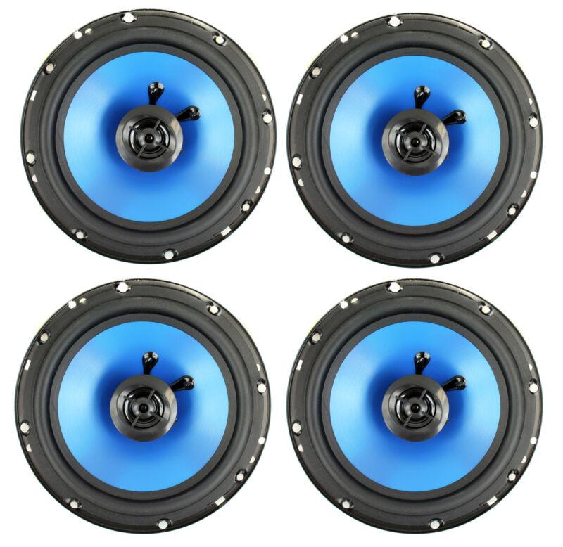 "QPower 6.5"" 300W 2-Way Blue Car Audio Stereo Coaxial Speaker Set, 4pk | QP650"