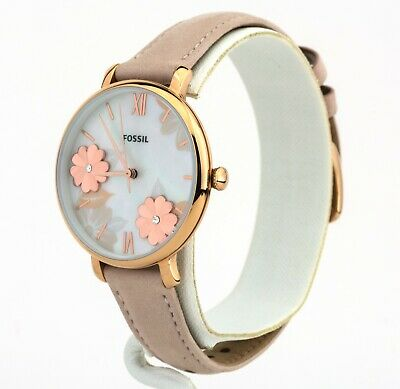Women's Fossil Jacqueline Blush Leather Watch ES4671, New