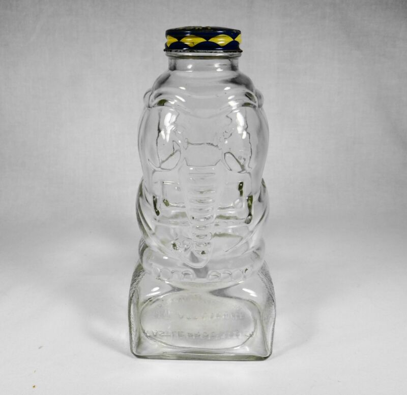 Vintage Castle Products Glass Jar Elephant Coin Bank With Lid