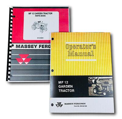 Massey Ferguson 12 Lawn Garden Tractor Parts Operators Manual Catalog Schematic
