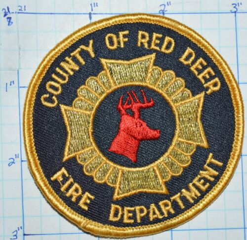 CANADA, COUNTY OF RED DEER FIRE DEPT ALBERTA ROUND PATCH