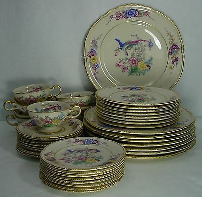 CASTLETON china PHOENIX pattern 40-pc SET SERVICE for EIGHT (8)