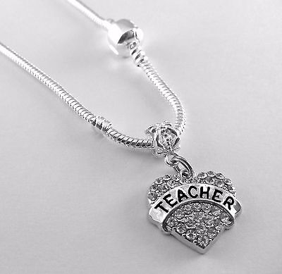 Teacher Necklace Huge sale Teacher chain teacher present for the best (The Best Present For Teacher)