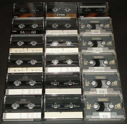 18 CrO2 Type II 60 min Cassette Tapes - TDK - MAXELL
