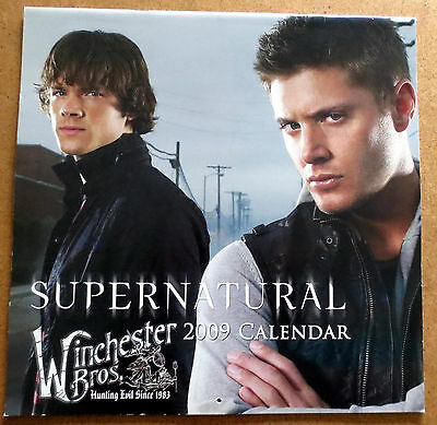 Adapted to Supernatural Calendar 2009  - Jensen Ackles & Jared Padalecki