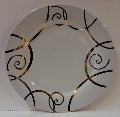 Roscher China GOLD SCROLLS (RRM37) Dinner Plate CHRISTMAS More Availble