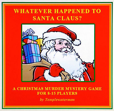 ☆ HOST A CHRISTMAS MURDER MYSTERY DINNER PARTY GAME ~ for 8-15 players ☆ - Games For Christmas Parties