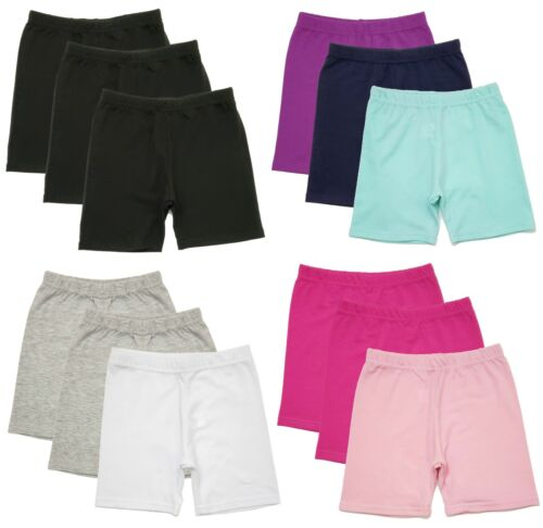 Girls Bike Shorts 6 Pack Dance Yoga Shorts Toddler Kids