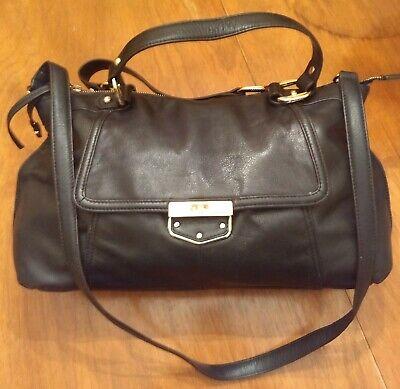 B. Makowsky Black Glove Leather Handbag Large