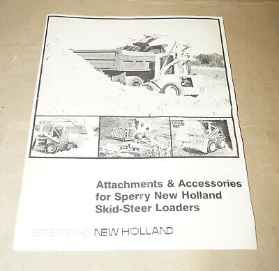 Sperry New Holland Attachments Accessories Skid-steer Loaders Operators Manual