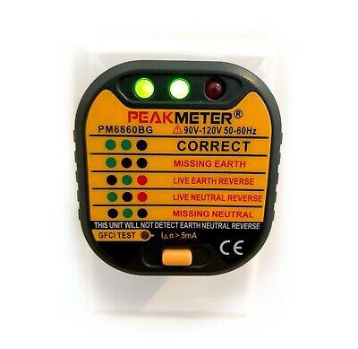 Peak-meter Outlet Tester W Gfci Test 110v Us Electric Plug Socket 50-60hz