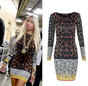 WOMENS CELEBRITY PLUS BIG SIZE NICKI MINAJ LEOPARD PRINT ...Nicki Minaj In Leopard Print
