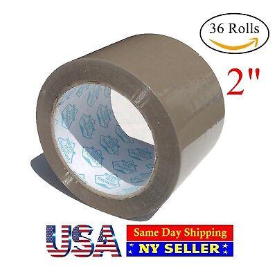 36 Rolls Case Brown Tan Packing Tape 2