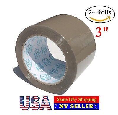3 inch Packing Tape Tan 110 yards 24 Roll Carton Sealing Brown-ST ShipMailers