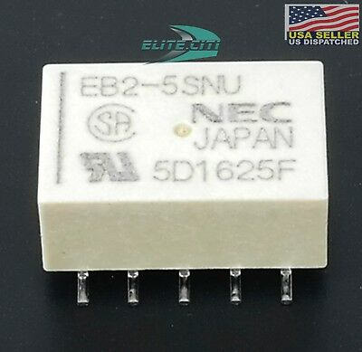 Nec Tokin Low Signal Relays 5 Volt Latching Relay 2 Form C Dpdt Eb2-5sn