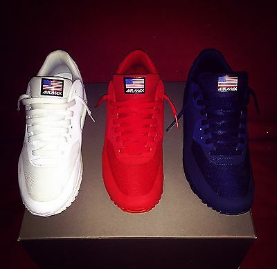NIKE AIR MAX INDEPENDENCE DAY PACK 9, 9.5 KANYE WEST YEEZY RED OCTOBER  for sale  Shipping to Canada