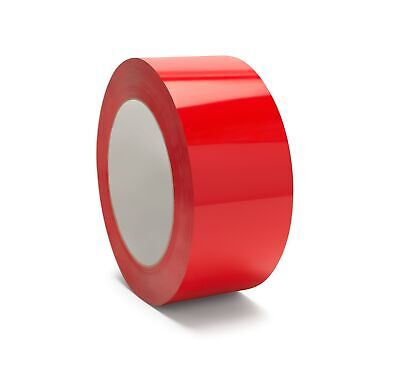 36 Rolls Red Color Carton Sealing Packaging Packing Tape 2 Mil 48mm X 100m