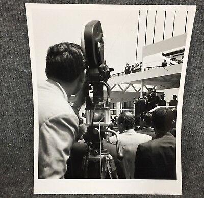 Vintage President John F. Kennedy Speaking In Costa Rica Original Press Photo F4
