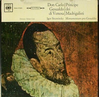 Gesualdo  PRINCIPE DEL MADRIGAL / Stravinsky - Robert Craft LP CBS S 72276