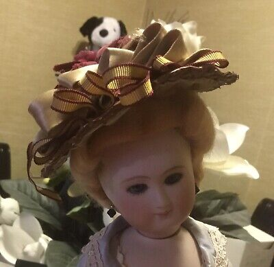 Lovely Sz. 6 1/2 Mohair Wig For French Fashion Doll #8