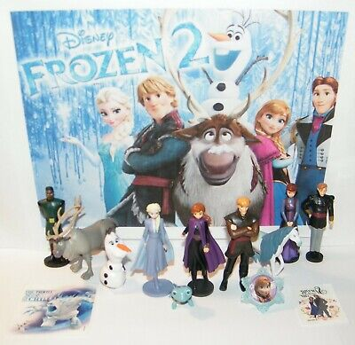 Disney Frozen 2 Movie Figure Set of 10 Deluxe Anna, Elsa,  New Characters More!