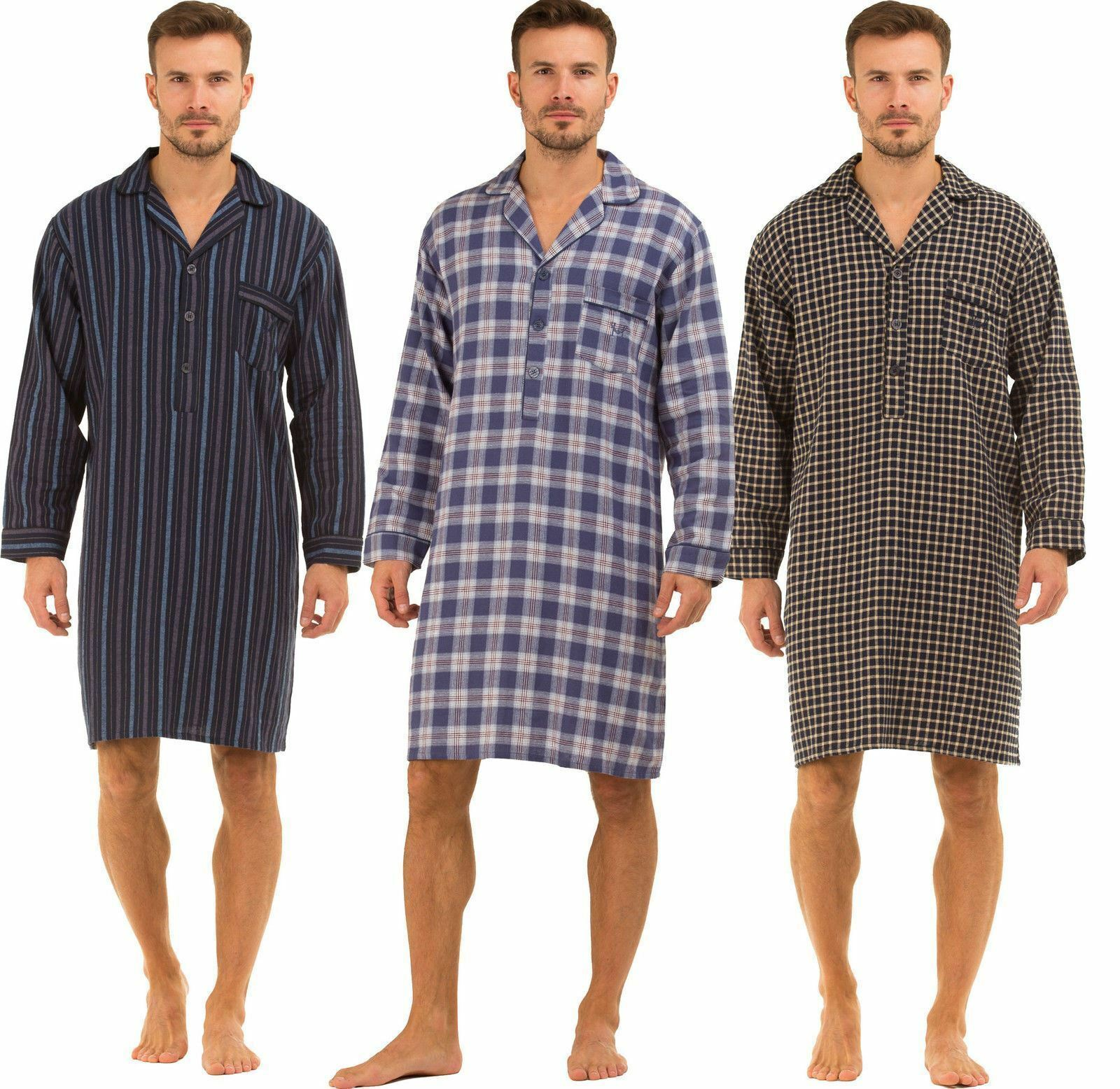 Mens Haigman Nightwear BRUSHED 100% Cotton 7394 Nightshirt  daa63cc7f