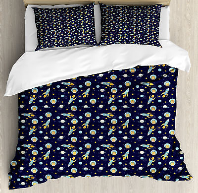 Astronaut Duvet Cover Set Twin Queen King Sizes with Pillow