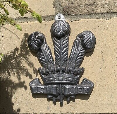 Prince Of Wales Feathers Lead Casting SandCast Leadwork LeadFlashing Wall Plaque