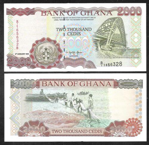 Ghana - 2000 Cedis Note - 1995 - P30b - Uncirculated