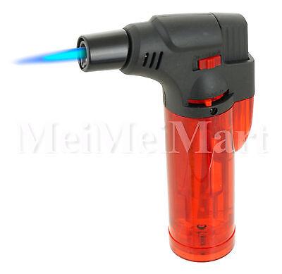 "Jumbo 4"" Single Jet Flame Torch Gun Lighter Refillable Lockable Windproof-9452"
