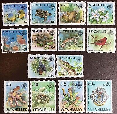Seychelles 1977-78 Wildlife Definitives 14 Values To 20r MNH