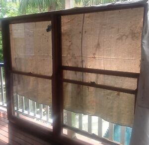 Large 2 light double hung cedar windows Red Hill Brisbane North West Preview