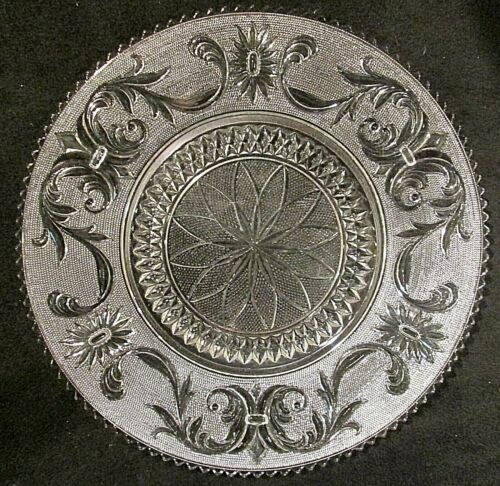 """Large 13"""" Torte Plate Princess Feather Clear by WESTMORELAND"""