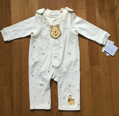 Disney Store Winnie the Pooh Embroidery 2 pc baby girl boy outfit jumper set 9 m