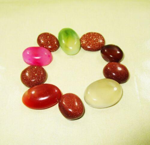 Loose Gemstones 100% Natural Onyx and Sunstones 105.00 Ct/ 10 Pcs ~~PR369